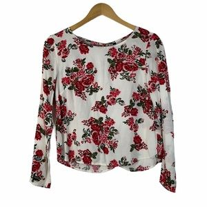 Divided H&M Women Long Sleeve Floral Top Size 6